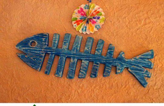 Скелет рыбы украшение