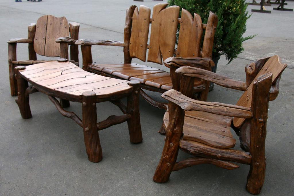 Садовая деревянная эко-мебель