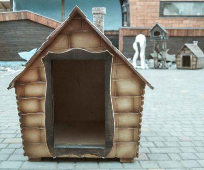 теплая будка для собаки